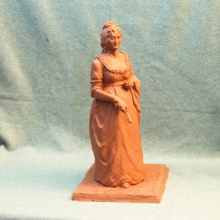 """Clay maquette for one of 5 """"First Ladies"""" group"""